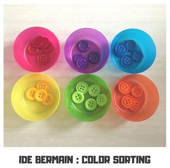 Ide Bermain Toddler : Color Sorting